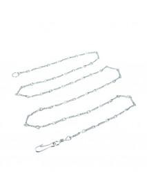 Цепь привязочная витая Зооник 2,5 мм 2,5 м с карабином