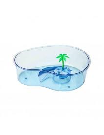 Черепашник с островком и пальмой 32*23*9,5 см