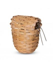 Гнездо-корзина для птиц из лозы d90*100 мм