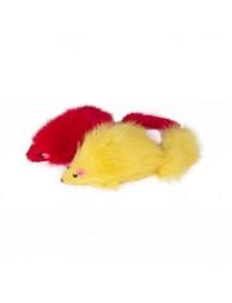 Игрушка для кошек Мышь цветная 90-100 мм