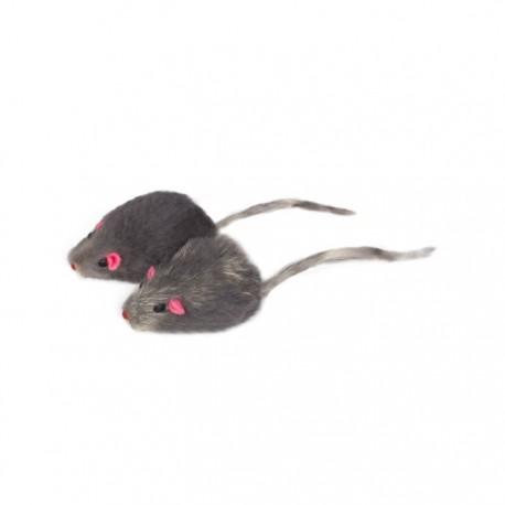 Игрушка для кошек Мышь серая 45-50 мм