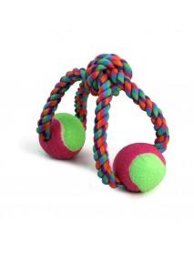 Игрушка для собак Верёвка-восьмёрка узел и 2 мяча