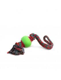 Игрушка для собак Верёвка с петлей 2 узла и мяч