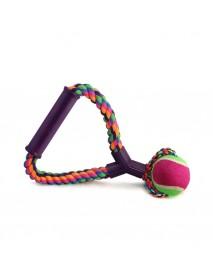 Игрушка для собак Верёвка с ручкой мяч