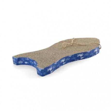 Когтеточка-лежанка из гофрокартона Рыбка 470*230*40 мм