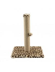 Когтеточка Cтолбик № 2 с бубоном леопард 30*30*60 см