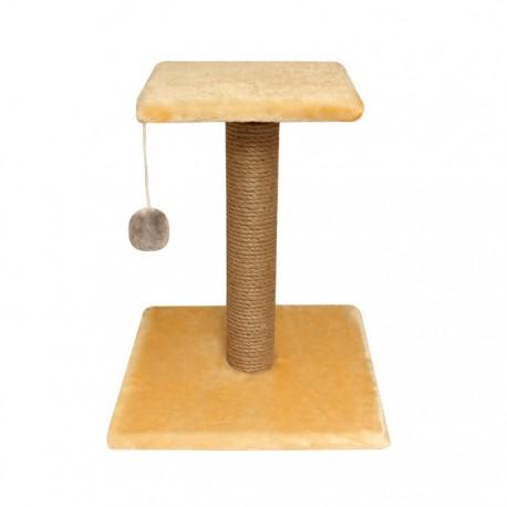 Когтеточка Стойка № 6 с полочкой и игрушкой однотонная 360*360*450 мм