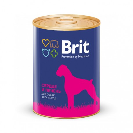 Консервы Brit Premium Сердце и печень