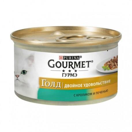 Консервы Gourmet Gold Двойное удовольствие с кроликом и печенью