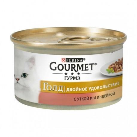 Консервы Gourmet Gold Двойное удовольствие с уткой и индейкой