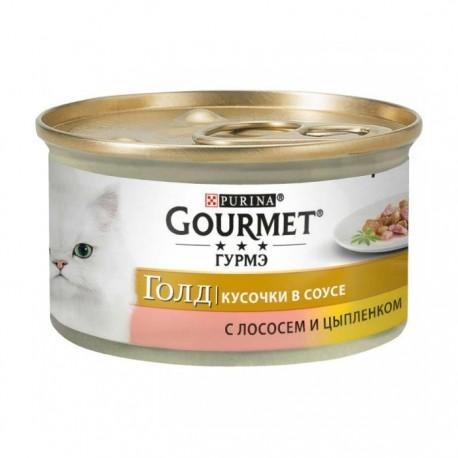 Консервы Gourmet Gold Кусочки в соусе с лососем и цыпленком