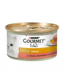 Консервы Gourmet Gold Террин с уткой морковью и шпинатом