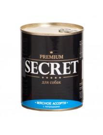 Консервы Secret Premium для собак Мясное ассорти с потрошками
