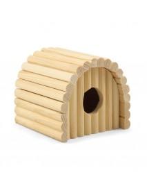 Домик полукруглый для мелких животных деревянный 125*130*105 мм