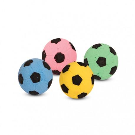 Игрушка для кошек Мяч футбольный d40мм 4шт