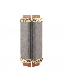 Когтеточка Гамма из ковролина №2 угловая с оторочкой из меха