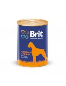 Консервы Brit Premium Говядина и печень