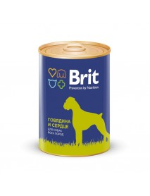 Консервы Brit Premium Говядина и сердце