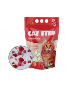 Наполнитель CAT STEP Клубника силикагелевый