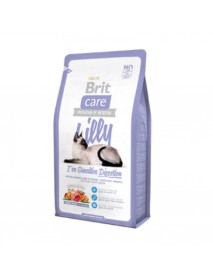 Сухой корм Brit Care Lilly Sensitive Digestion Гипоаллергенный с ягнятиной и лососем для кошек с чувствительным желудком