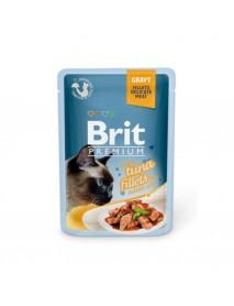 Влажный корм Brit Premium Кусочки из филе тунца в соусе