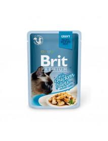 Влажный корм Brit Premium Кусочки из куриного филе в соусе