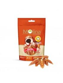 Лакомство Molina Косточки с вяленой курицей для собак мелких пород