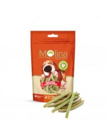 Лакомство Molina Куриные полоски со шпинатом для собак мелких пород