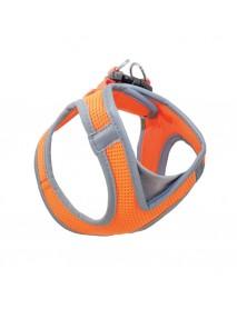 Мягкая шлейка-жилетка оранжевая 360-410 мм