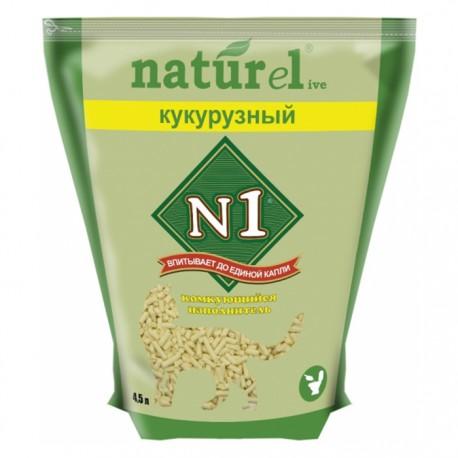 Наполнитель N1 Naturel комкующийся кукурузный