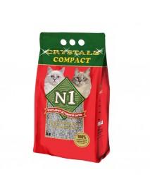 Наполнитель N1 Crystals Compact комкующийся глиняный