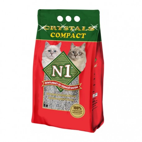 Наполнитель N1Compact комкующийся глиняный