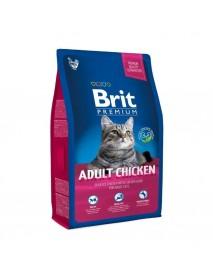 Сухой корм Brit Premium Cat Adult Chicken с мясом курицы и соусом из куриной печени