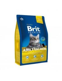 Сухой корм Brit Premium Cat Adult Salmon с лососем