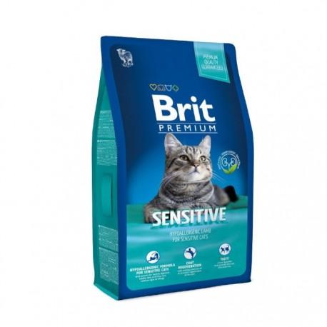 Сухой корм Brit Premium Cat Sensitive для кошек с чувствительным пищеварением
