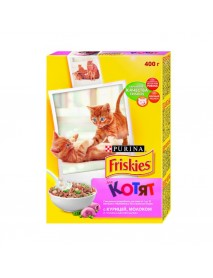 Сухой корм Friskies для котят с курицей молоком и овощам