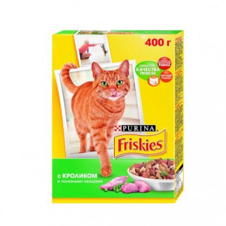 Сухой корм Friskies для взрослых кошек с кроликом и полезными овощами