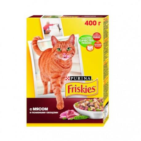 Сухой корм Friskies для взрослых кошек с мясом и полезными овощами