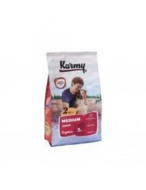 Сухой корм Karmy medium junior корм для щенков средних пород Индейка