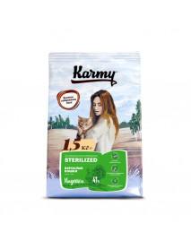 Сухой корм Karmy Sterilized для стерилизованных кошек и кастрированных котов Индейка