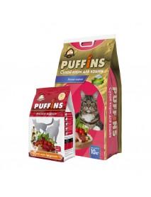 Сухой корм Puffins для кошек Мясное жаркое