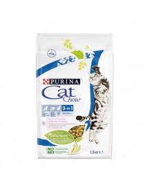 Сухой корм Purina Cat Chow Feline тройная защита домашняя птица и индейка