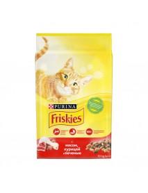 Сухой корм Purina Friskies для взрослых кошек с мясом курицей и печенью