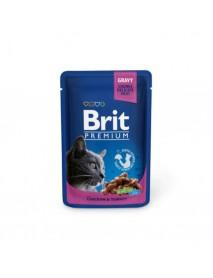 Влажный корм Brit Premium Кусочки с курицей и индейкой