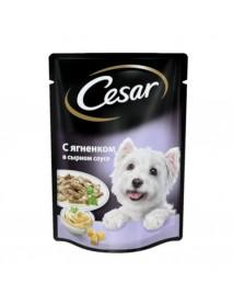 Влажный корм Cesar с ягненком в сырном соусе