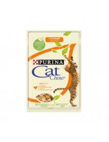Влажный корм для кошек старше 1 года Purina Cat Chow Adult 1+ курица и кабачки в желе