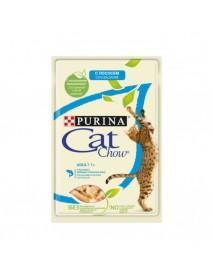 Влажный корм для кошек старше 1 года Purina Cat Chow Adult 1+ лосось и зеленый горошек в желе