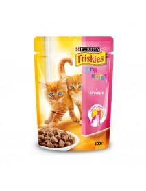 Влажный корм Friskies для котят с курицей в подливе