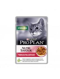 Влажный корм Nutrisavour Sterilised для стерилизованных кошек с уткой в соусе
