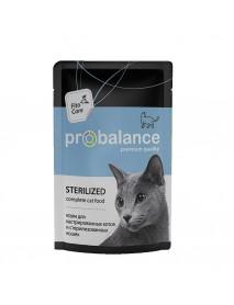 Влажный корм Probalance Sterilized для стерилизованных кошек и кастрированных котов